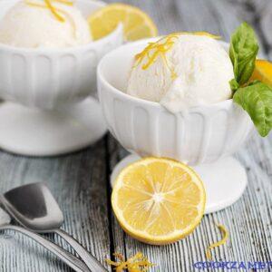 Лимонное мороженое.