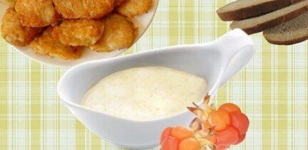 Соус для рыбы из морошки