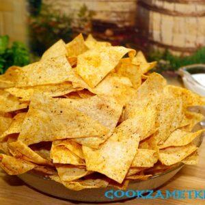 Домашние чипсы из лаваша в духовке.