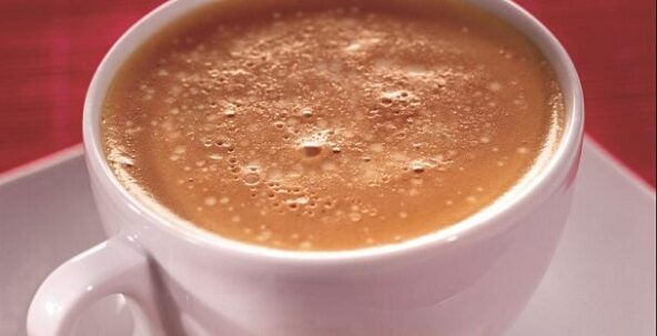Кофе латте с ванилью и шоколадом