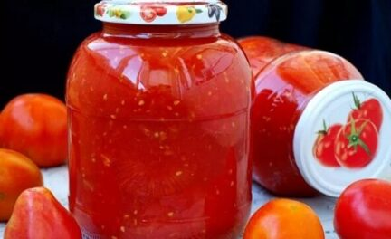 Помидоры в томатном соке на зиму консервированные
