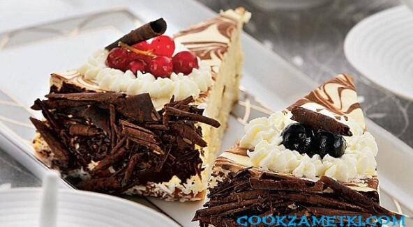 Чизкейк с белым шоколадом.