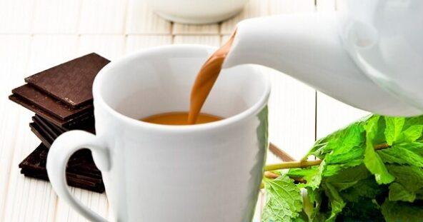 Мятный шоколадный чай