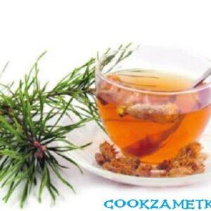 Чай из сосновой хвои и шиповника.
