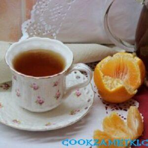 Чай с кардамоном и мандарином.