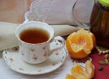 Чай с кардамоном и мандарином