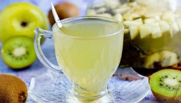 Зеленый чай с киви