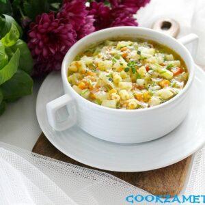 Суп Минестроне классический.
