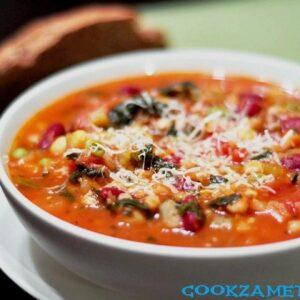 Суп Минестроне с фасолью.