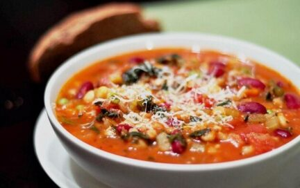 Суп Минестроне с фасолью