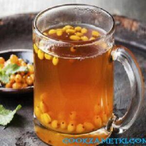 Витаминный чай с облепихой.