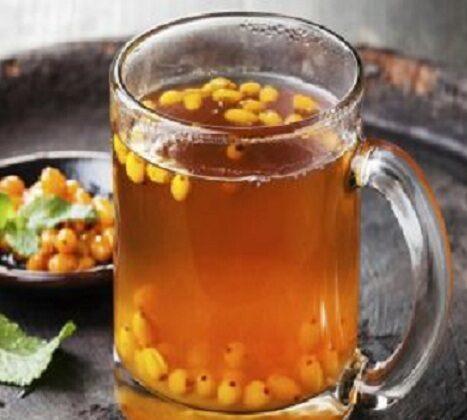 Витаминный чай с облепихой