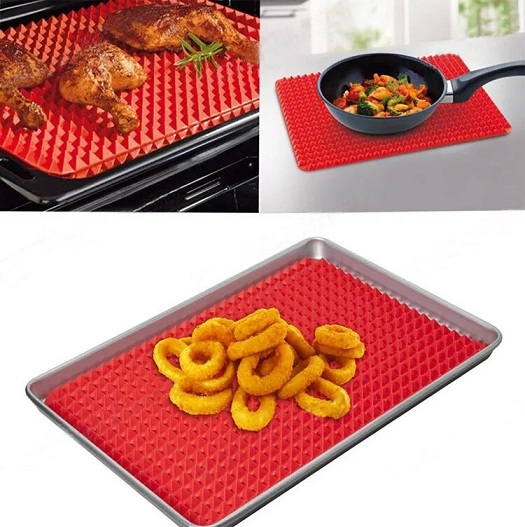 Hot-1PCS-Red-Pyramid-Bakeware-Pan-Nonstick-Silicone-Baking-Mats-Pads-Moulds-Cooking-Mat-Oven-Baking