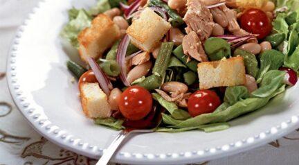 Салат из фасоли по-тоскански