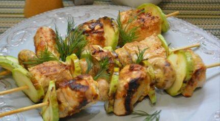 Куриные шашлычки в имбирно-цитрусовом маринаде