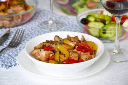 Курица в соусе терияки с овощами