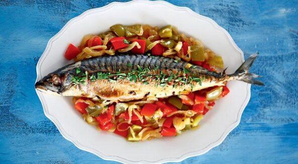 Эскабече из скумбрии, рыба под маринадом