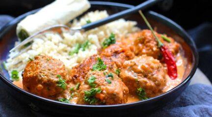 Полпетте из трески и кабачков в индийском стиле